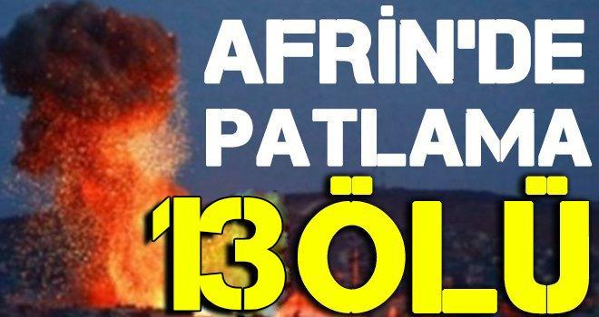 Afrin'de bomba yüklü araçla saldırı: 13 ölü