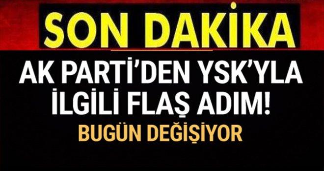 AK Parti'den flaş adım! YSK'nın yapısı değişiyor