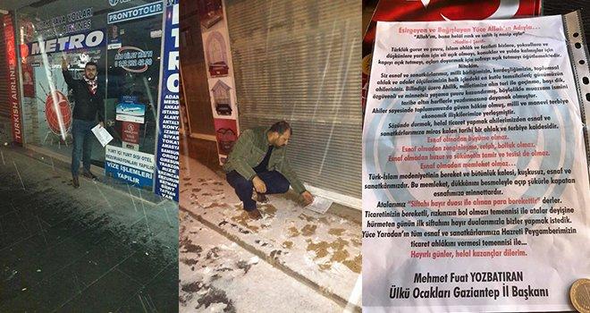 Gaziantep Ülkü Ocakları'ndan esnafa siftah parası