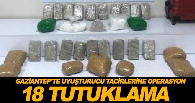 Gaziantep'te 32 adrese uyuşturucu operasyonu