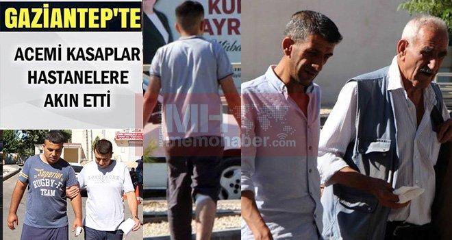 Gaziantep'te acemi kasaplar acil servise koştular