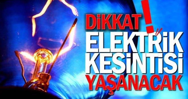 Gaziantep'te Elektirik kesintisi yaşanacak...