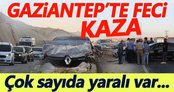 Gaziantep'te feci kaza: Çok sayıda yaralı var...
