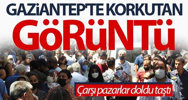 Gaziantep'te korkutan görüntüler...
