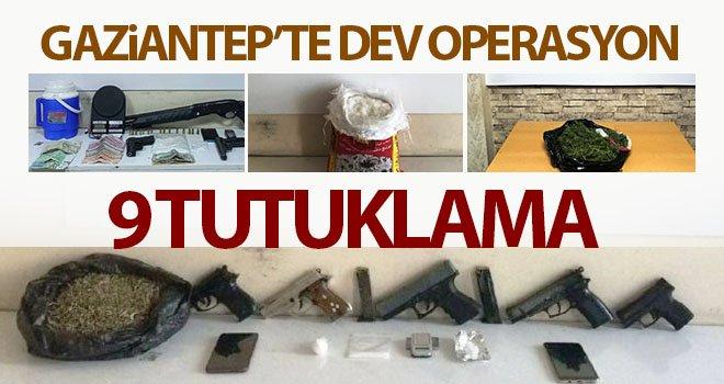 Gaziantep'te uyuşturucu operasyonu: 9 tutuklama