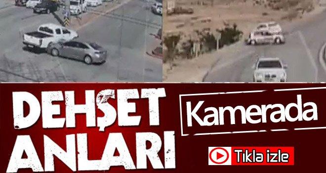 Gaziantep'teki trafik kazaları kameralarda...