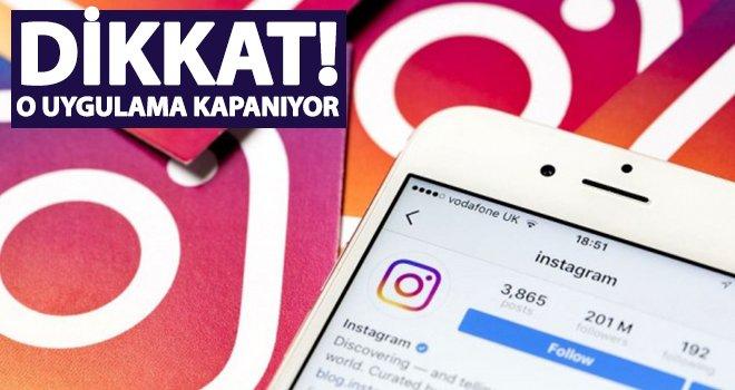 Instagram uygulaması kapatılıyor!