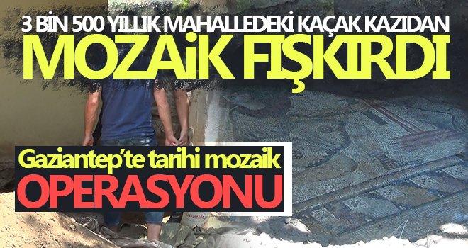 Kaçak kazı sırasında tarihi mozaikler ortaya çıktı
