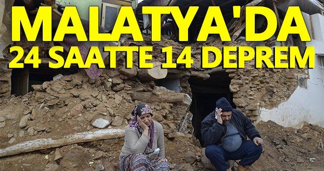 Malatya'de 24 saatte 14 deprem...