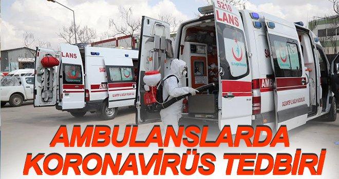 112 Acil ambulansları dezenfekte edildi