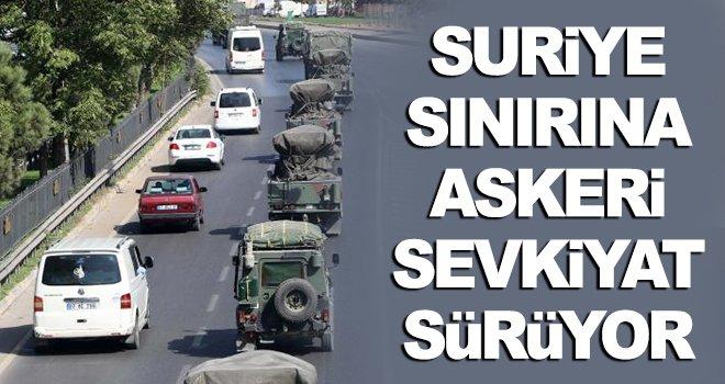 120 araçlık askeri konvoy yola çıktı