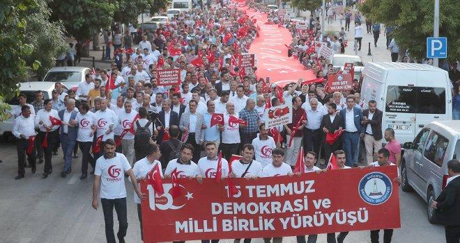 15 Temmuz Demokrasi ve Milli Birlik Günü yürüyüşü