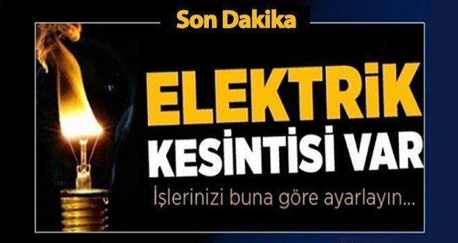 16 Eylül Gaziantep'te elektrik kesintisi olacak yerler