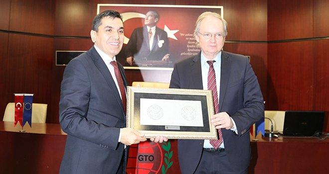 AB Büyükelçilerinden GTO'ya ziyaret