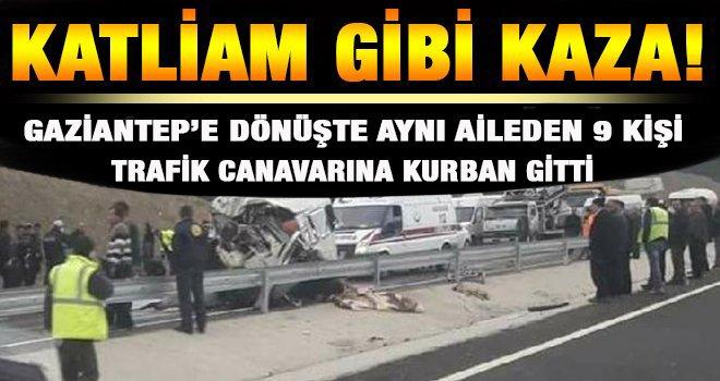 Trafik Teröründe kurban giden aynı aileden 9 kişinin cenazesi Gaziantep'te...