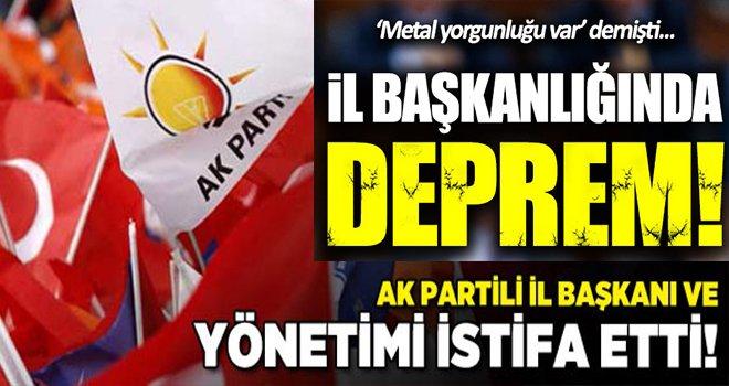 AK Parti İl Başkanı ve Yönetiminden şok istifa...