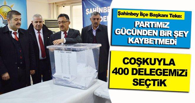 AK Parti Şahinbey'de delege savaşı