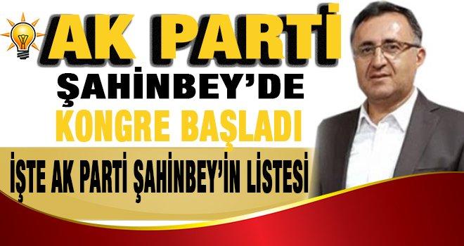 Ak Parti Şahinbey'in yönetim listesi belli oldu