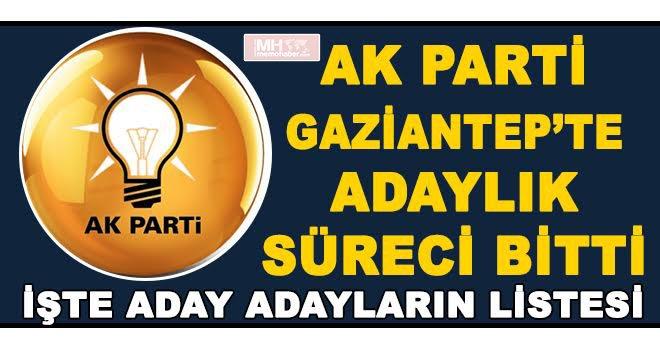 AK Partide Başkan Aday isimleri belli oldu : 84 kişi başvuru