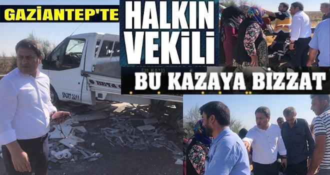 AK Partili Şahin Takdir topladı: Yaralılara müdahale etti
