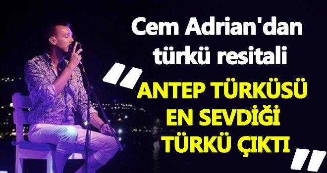 Anadolu türküleri Cem Adrian'ın yorumuyla yankılandı