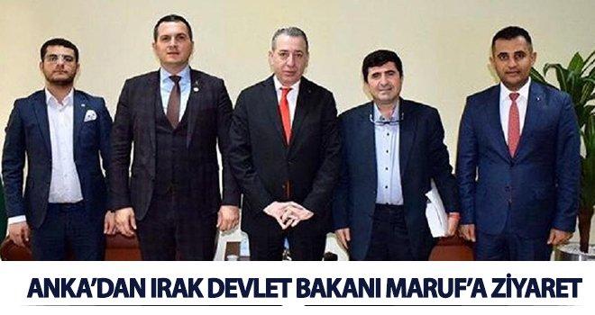 Anka'dan Aydın Maruf'a makamında ziyaret