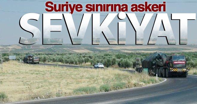 Askeri konvoy, Suriye sınırına doğru hareket etti