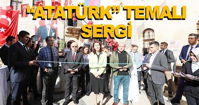 Atatürk temalı sergi düzenlenen törenle açıldı