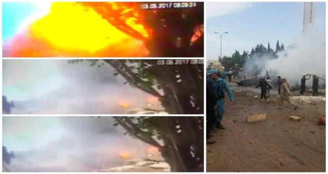 Azez'deki patlama kameralara böyle yansıdı...
