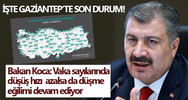 Bakan Koca duyurdu! İşte Gaziantep'in son durumu...