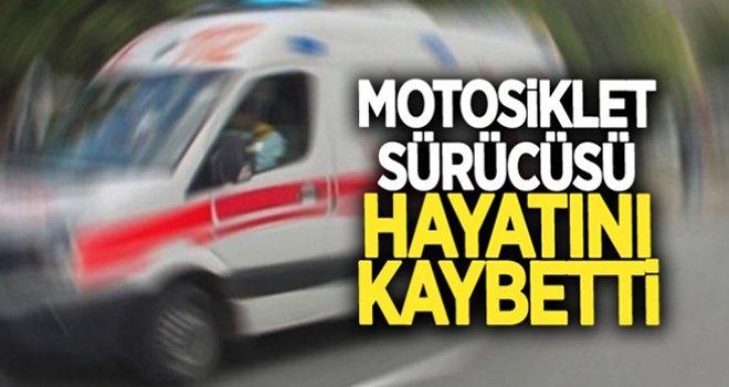 Gaziantep'te bariyerlere çarpan motosikletli öldü
