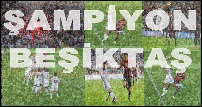 Beşiktaş Gaziantep'te şampiyonluğunu ilan etti 0-4