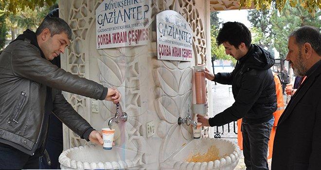 Büyükşehir'den binlerce kişiye sıcak çorba