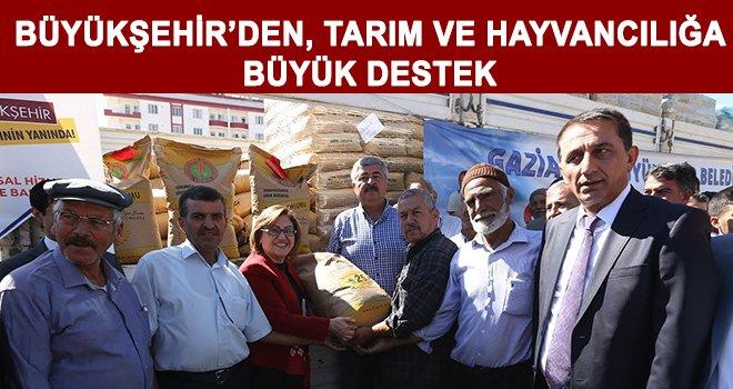 Büyükşehir'den çiftçilere ve üreticilere destek
