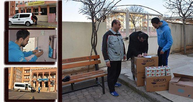 Büyükşehir'den okul ve camilere hijyen desteği