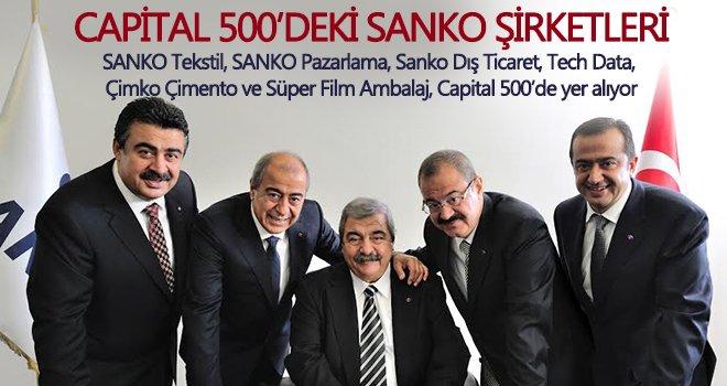 Capital 500 araştırmasında SANKO Holding'in altı şirketi listede