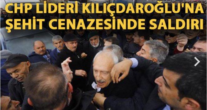 CHP lideri Kemal Kılıçdaroğlu'na Ankara'da şehit cenazesinde saldırı