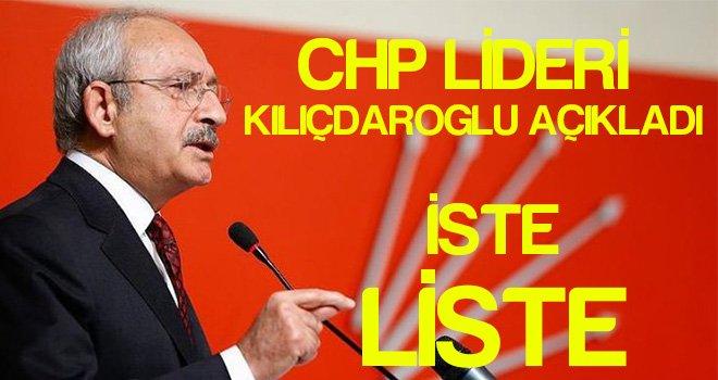 CHP Lideri Kılıçdaroğlu'nun merakla beklenen listesi