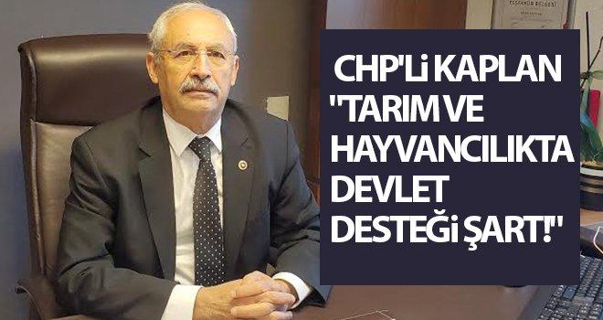 CHP'li Kaplan: Devlet üreticisini desteklemeli