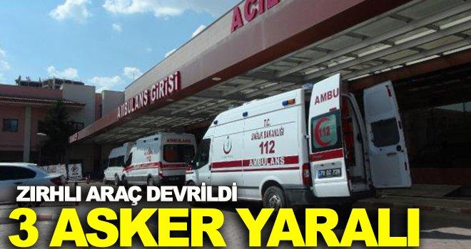 Çobanbey'de zırhlı araç devrildi: 3 asker yaralandı