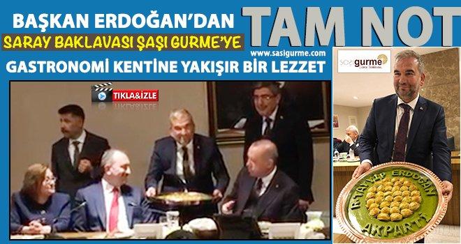 Cumhurbaşkanı Erdoğan'a özel tepsi ile 'Baklava'