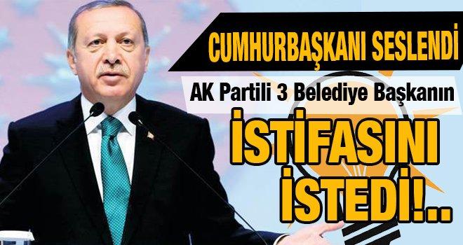 Erdoğan'dan Flaş Açıklama: O Belediye Başkanlarının istifası istendi