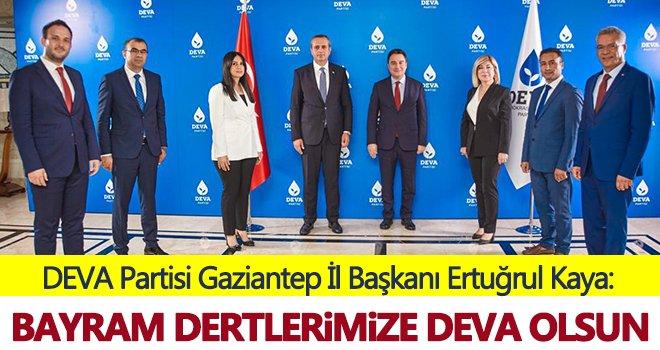 DEVA Partisi Gaziantep İl Başkanı Kaya'dan Kurban bayramı mesajı