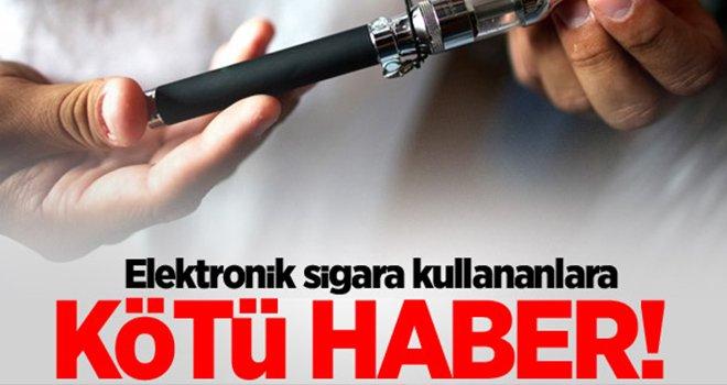 Dikkat! Elektronik sigara kanser yapıyor...