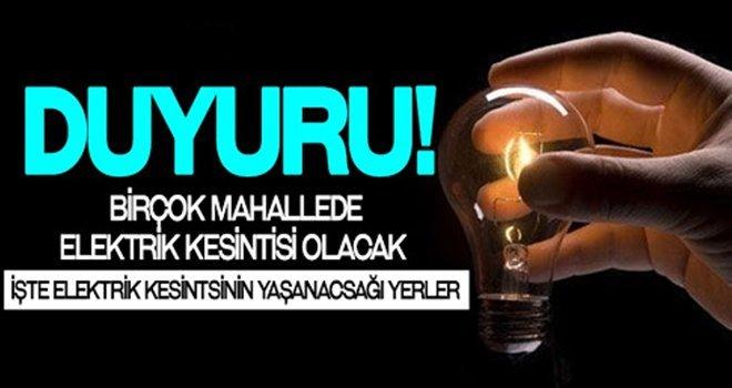 Dikkat! Gaziantep'te elektrik kesintisi olacak....
