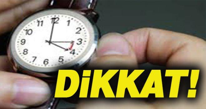 Dikkat!.. Saatlerinizi geri almayı unutmayın