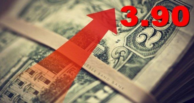 Dolar 3.90'ı rekorla test etti