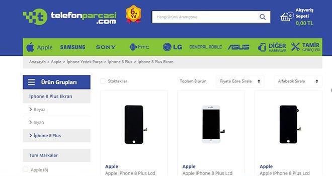 En Avantajlı İphone 8 Plus Ekran Fiyatı Telefon Parçası'nda!