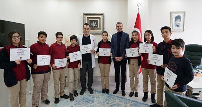 Erdem Koleji'ne ''Bilge Kunduz'' sertifikası