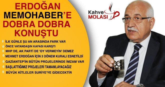 Erdoğan 'Kahve Molası'nda Mehmet Taşçı'nın sorularını yanıtladı